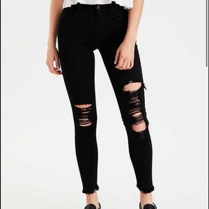 American Eagle High-Waisted Distressed Jeggings 6